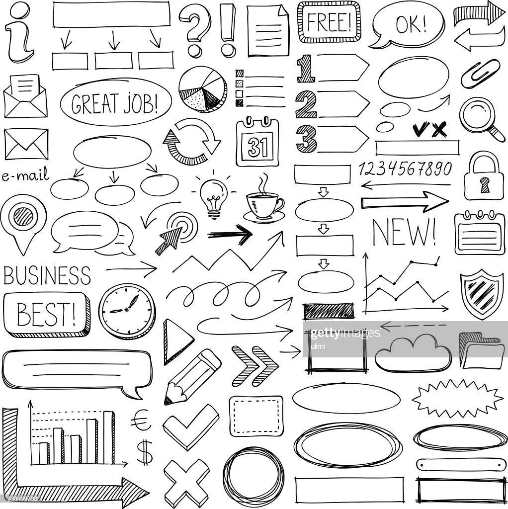 Doodle design elements : stock illustration