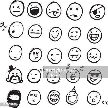 Doodle Emotions Stock Illustration - Getty Images