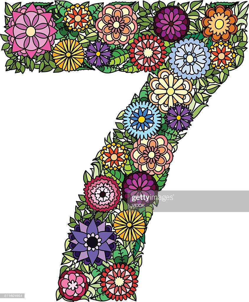 Doodle flower number seven.