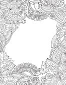 Doodle frame isolated on white