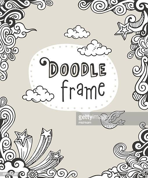 doodle frame - fun stock illustrations