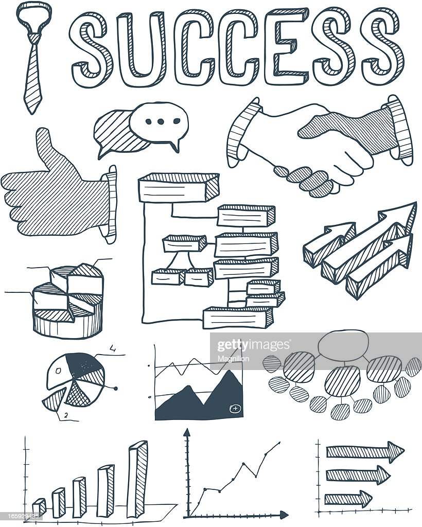 Doodle graphics and diagrams success vector art getty images doodle graphics and diagrams success vector art pooptronica