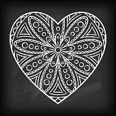 Doodle Heart Mandala