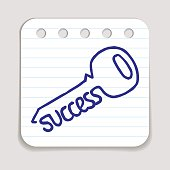 Doodle Key to Success icon