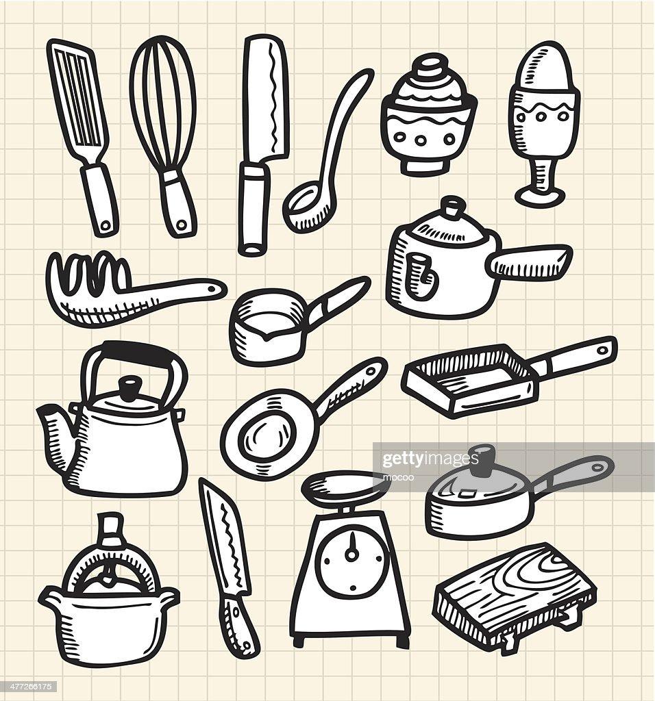 Doodle kitchen stock vector
