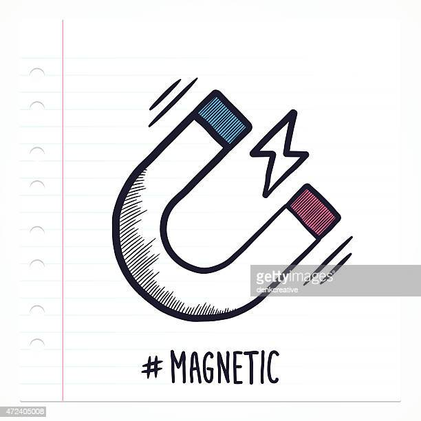 doodle magnet icon - magnet stock illustrations, clip art, cartoons, & icons