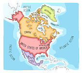 Doodle Map of North America