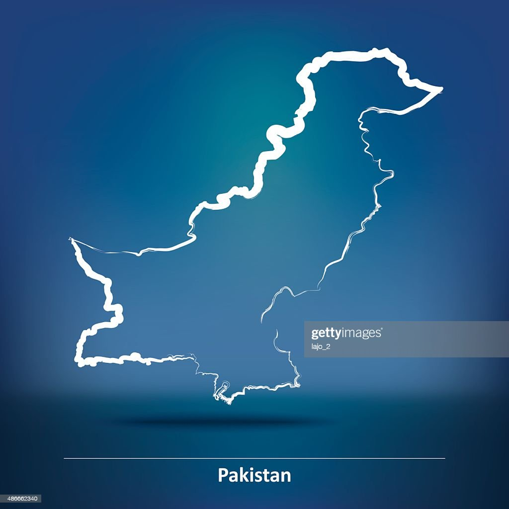 Doodle Map of Pakistan