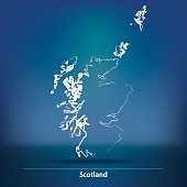 Doodle Map of Scotland