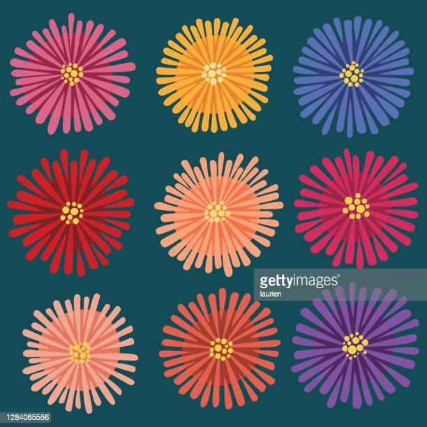 落書きママの花 - キク科点のイラスト素材/クリップアート素材/マンガ素材/アイコン素材