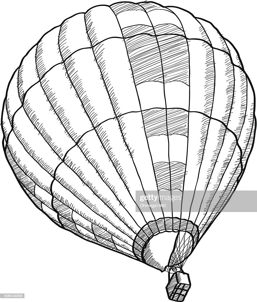 Doodle Of Hot Air Balloon Vector Sketch Up Vector Art | Getty Images