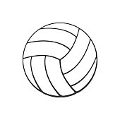Free Volleyball Ball Swish Clipart and Vector Graphics