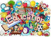 Doodle on Education concept