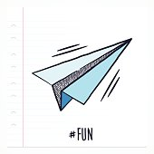 Doodle Paper Airplane Icon