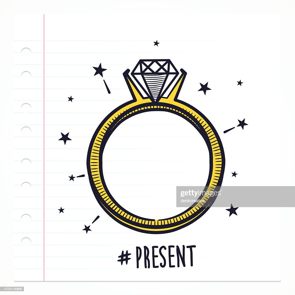 Doodle Ring With Diamond