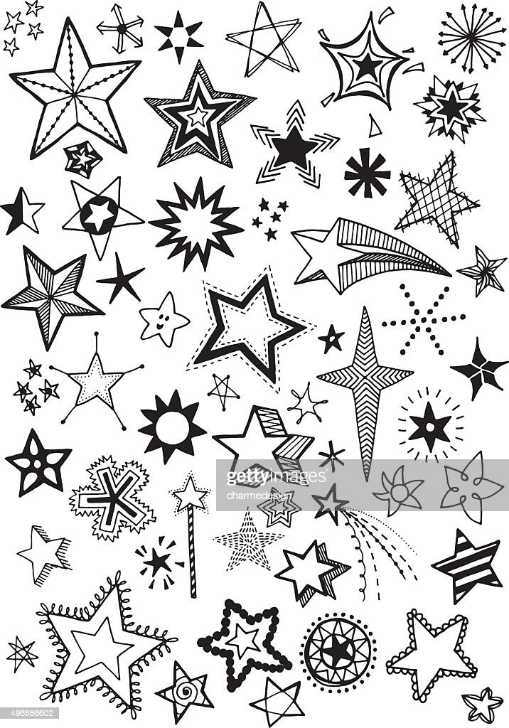 Doodle Stars : stock illustration