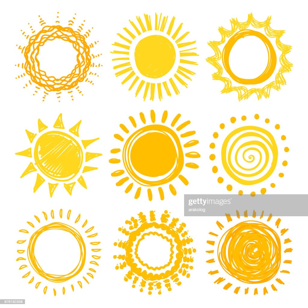 Doodle sun collection