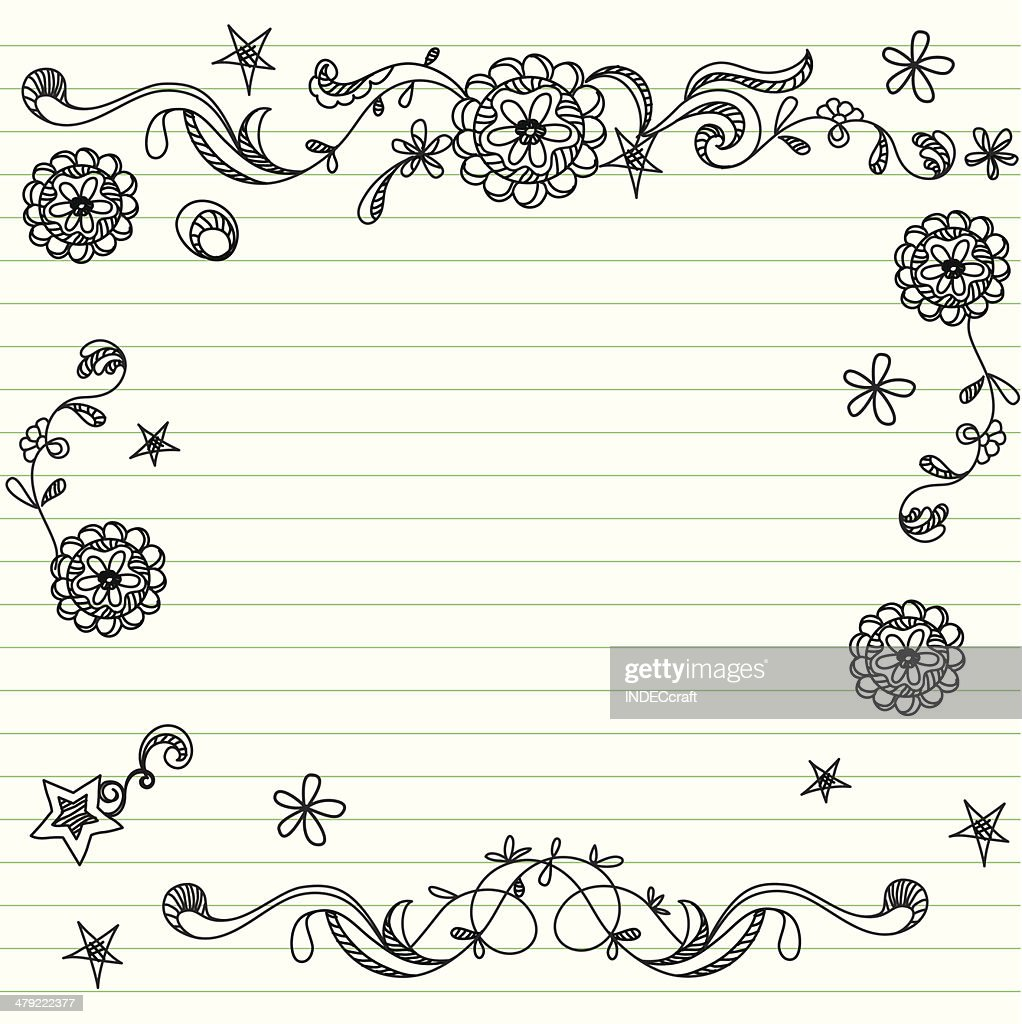 doodle template vector art getty images