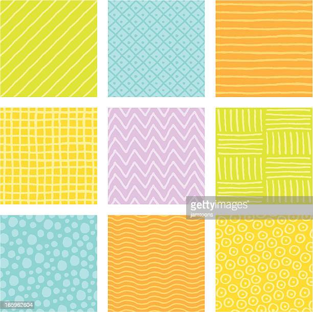 doodle tiles - waffle stock illustrations, clip art, cartoons, & icons