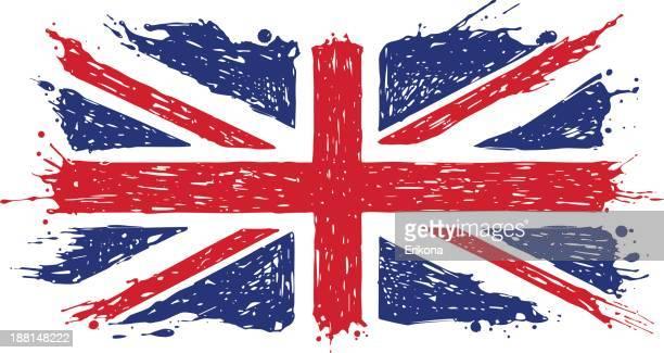 ilustraciones, imágenes clip art, dibujos animados e iconos de stock de reino unido bandera garabato - bandera del reino unido