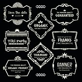 Doodle vector frame set.Ethnic Tribal  style frame collection.