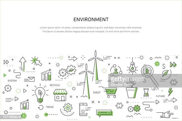 doodle work concept - environmental issues stock illustrations
