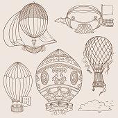 Doodles of Ancient Hot Ballons