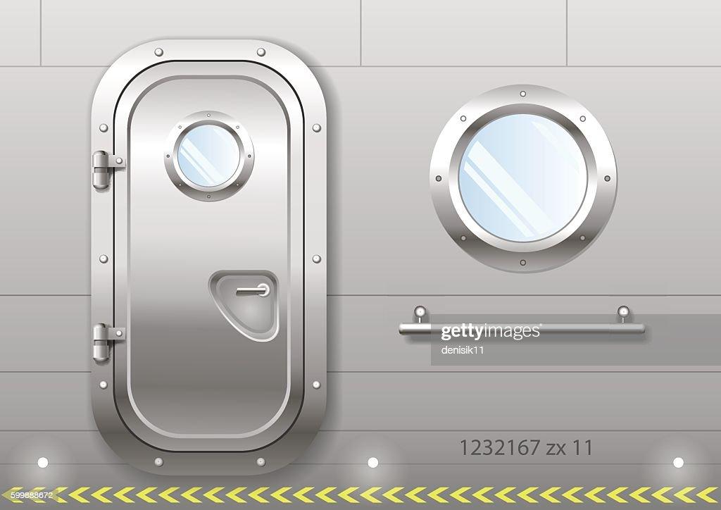 Door and window of the ship
