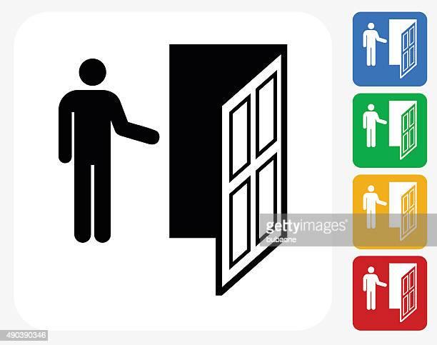Porta ícone Flat Design gráfico