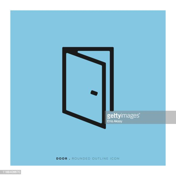 door icon - open stock illustrations