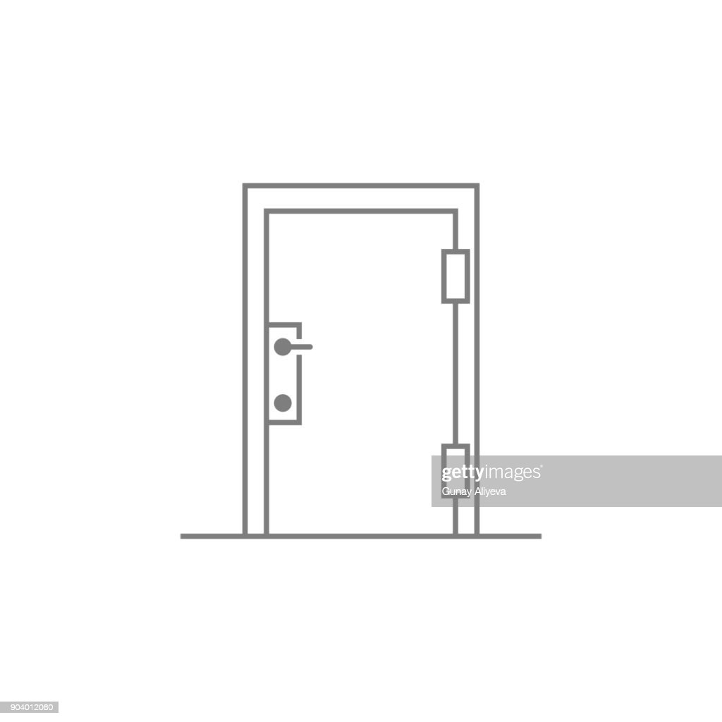 Door icon. Web element. Premium quality graphic design. Signs symbols collection, simple icon for websites, web design, mobile app, info graphics