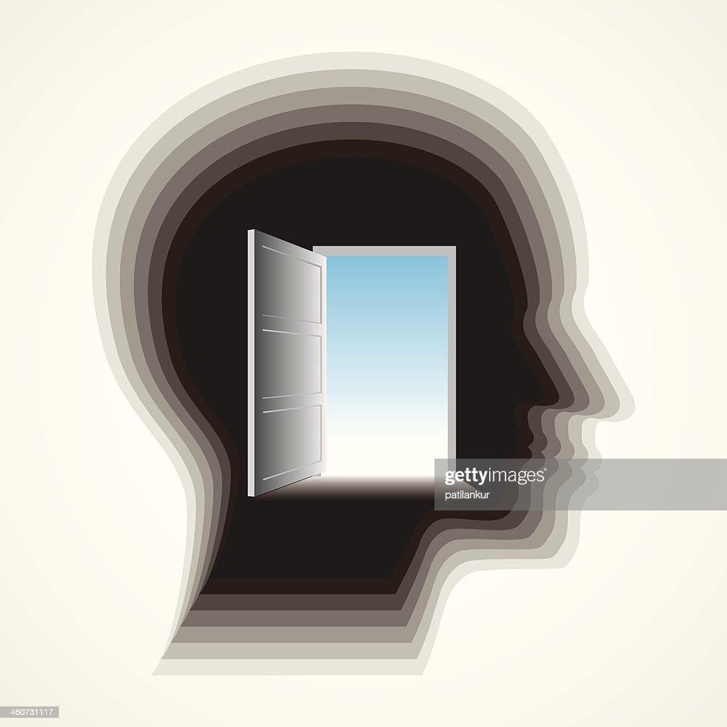 door in man's mind