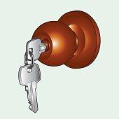 Door knob vector
