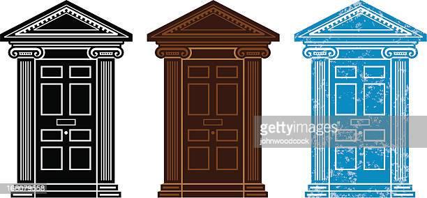 ドアのシンボル - ジョージア調点のイラスト素材/クリップアート素材/マンガ素材/アイコン素材