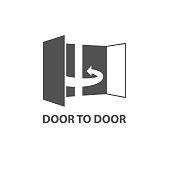 Door to door  concept icon, door 2 door