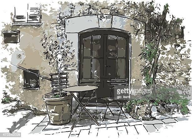illustrations, cliparts, dessins animés et icônes de porte - village