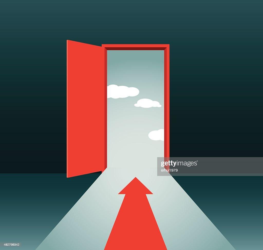Door : stock illustration