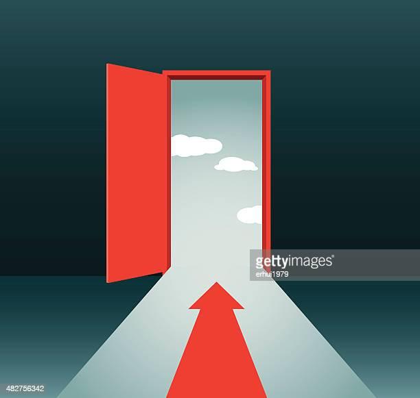 door - chance stock illustrations