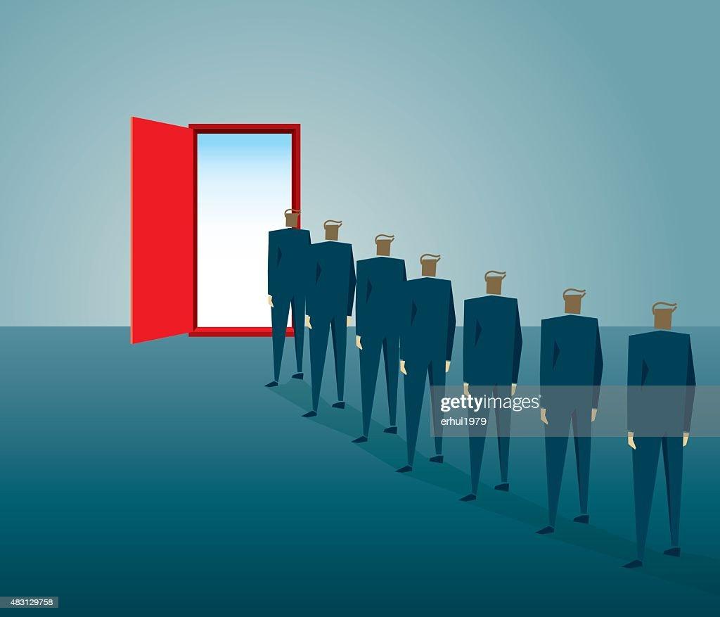 Puerta : Ilustración de stock