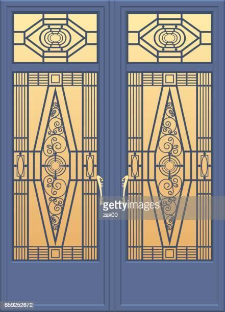tür  - marineblau stock-grafiken, -clipart, -cartoons und -symbole