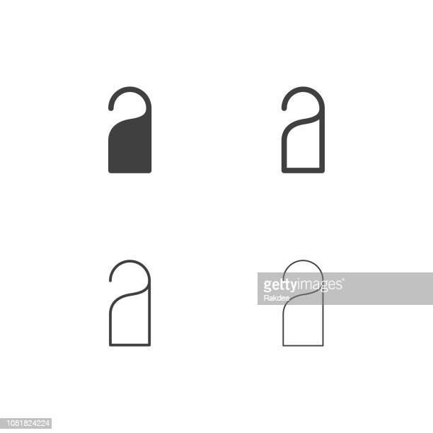 illustrations, cliparts, dessins animés et icônes de poignée de porte icons - série multi - marteaudeporte