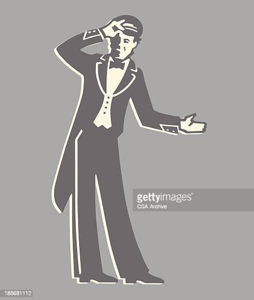 Doorman Gesturing