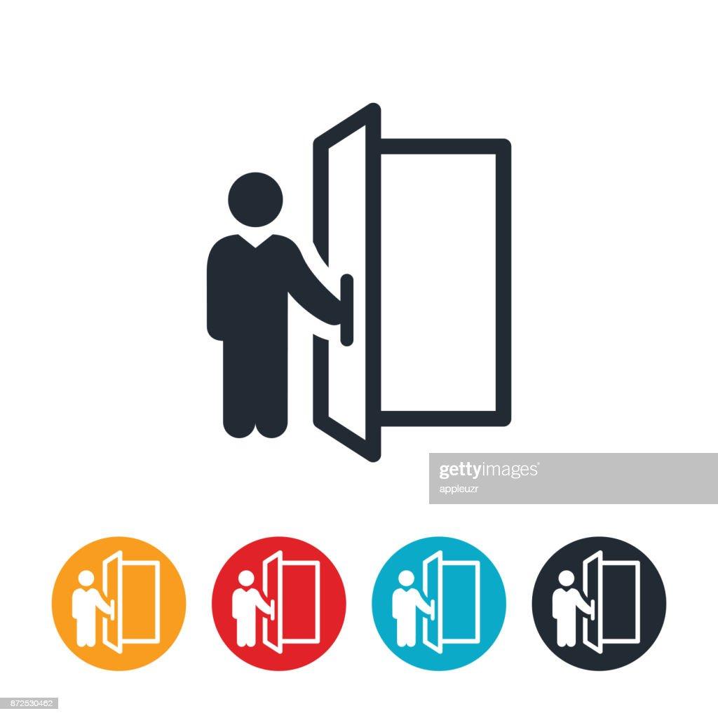 Doorman Icon : stock illustration