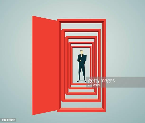 doorway - mystery stock illustrations, clip art, cartoons, & icons