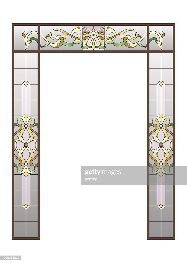 doorway with a stained-glass