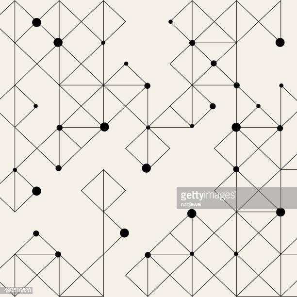 dot and line pattern background