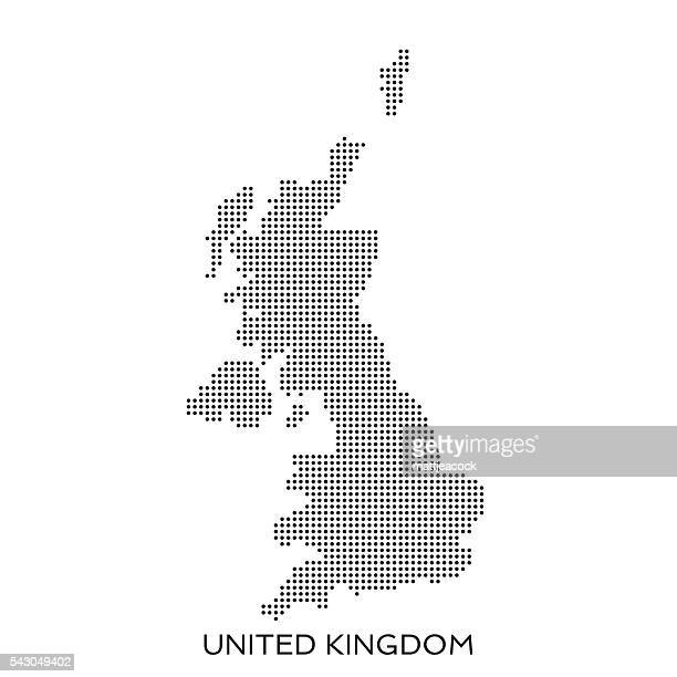 UK dot halftone pattern map