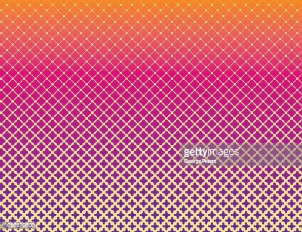ドット マトリックス ハーフトーン パターン背景 - スカラップ模様点のイラスト素材/クリップアート素材/マンガ素材/アイコン素材