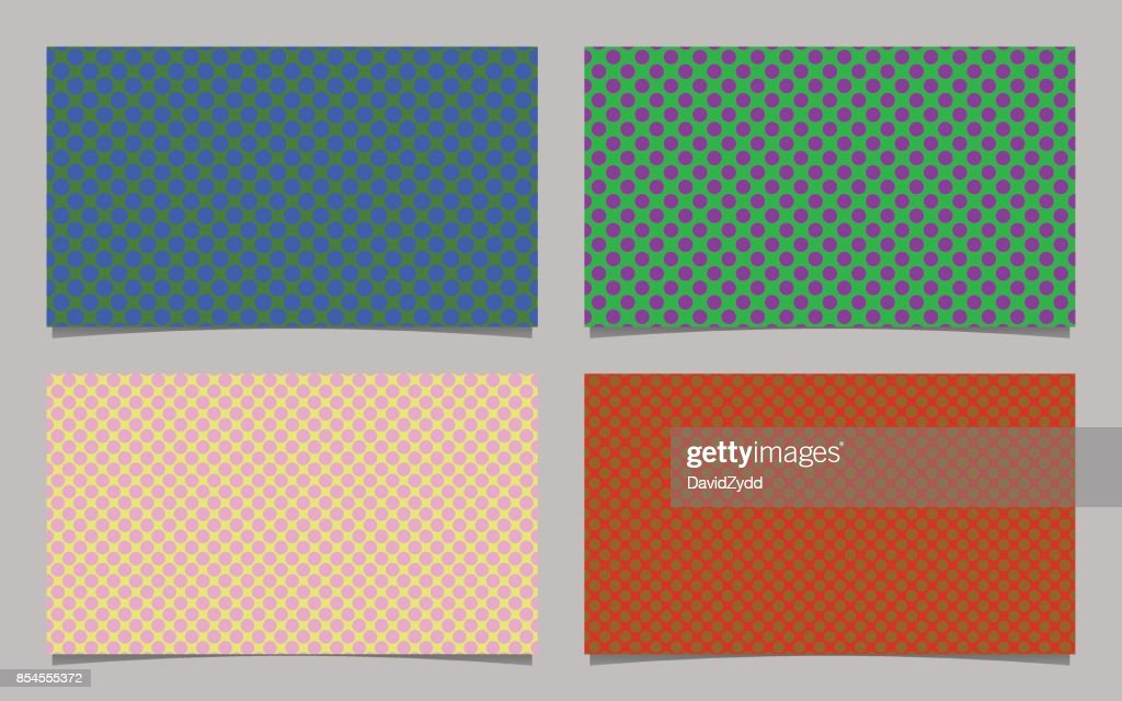 Dot Pattern Business Card Background Template Set Vector Design With
