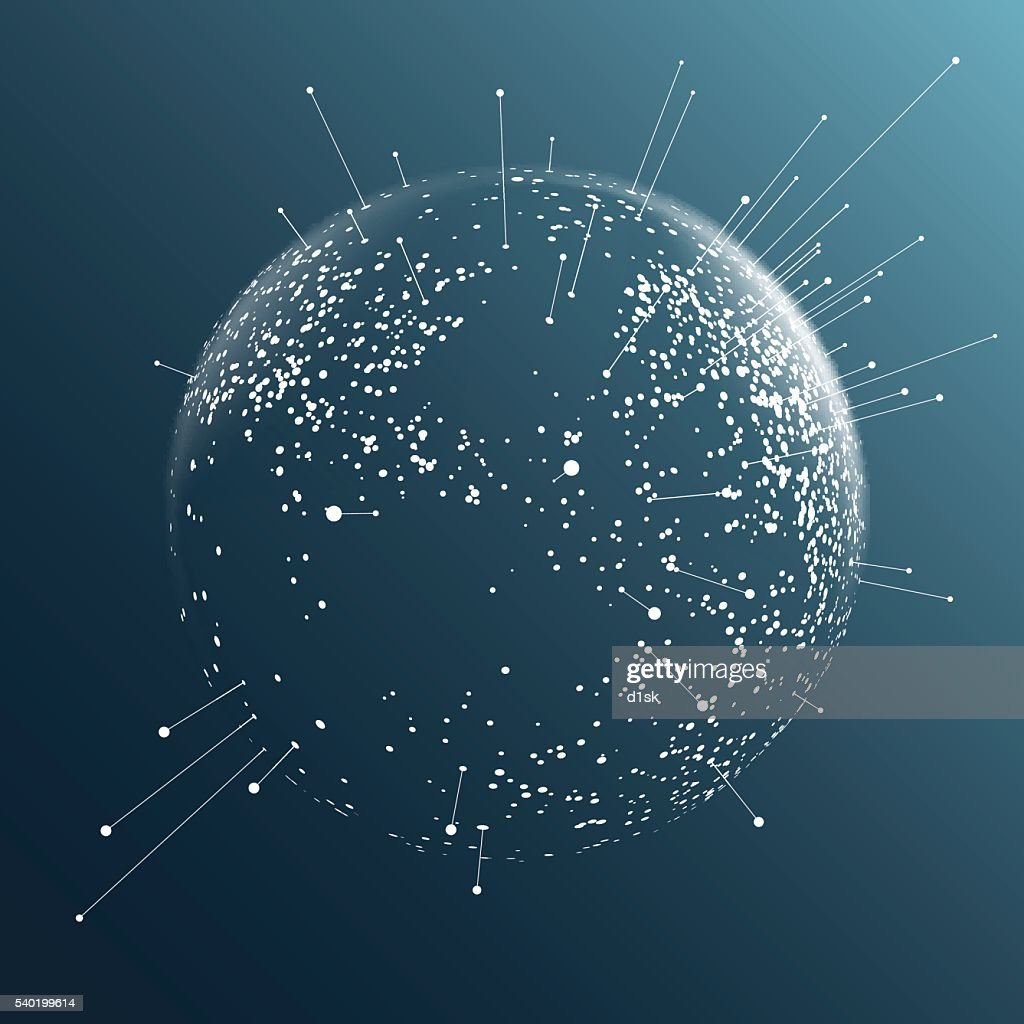 Dot sphere effect